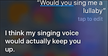 Siri-cant-sing-songs